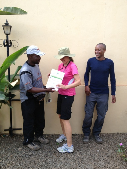 Certificates handed out