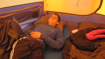 Last nap before summit night
