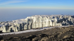 Glaciers at the summit
