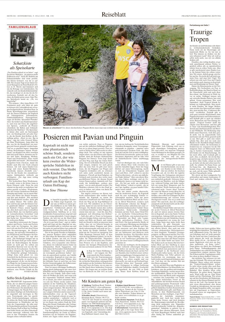 Posieren mit Pavian und Pinguin