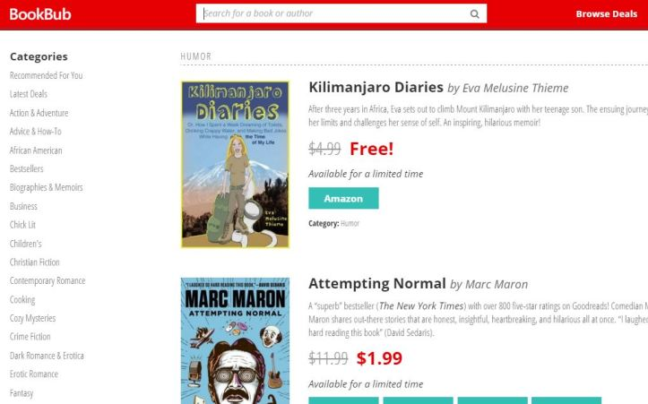 This is how BookBub promotes your book for you. See my book listed here at the top. Imagine this going out to tens of thousands of subscribers, and you'll know why most BookBub promos more than pay for themselves.