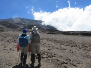 John and Cheryl on the Rongai Route on Mount Kilimanjaro, Tanzania
