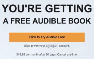 get a 30-day Audible trial for free by signing in with your Amazon account