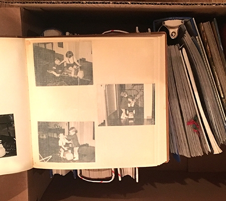 old photo albums and other stuff undoing #purge365