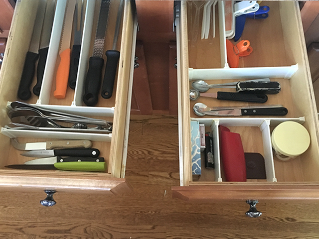 Marie Kondo-ed kitchen drawer