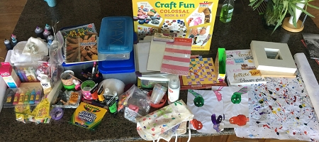 contents of craft cupboard before purging